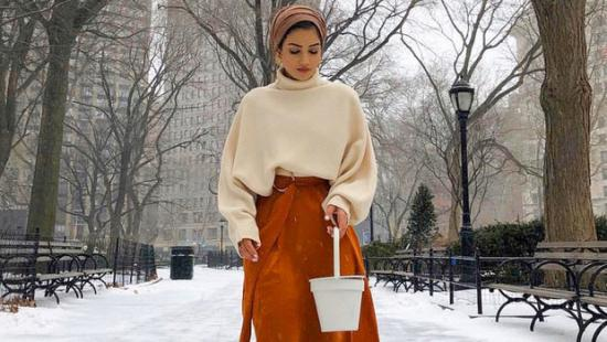 5-ways-to-style-your-oversized-sweater-with-hijab